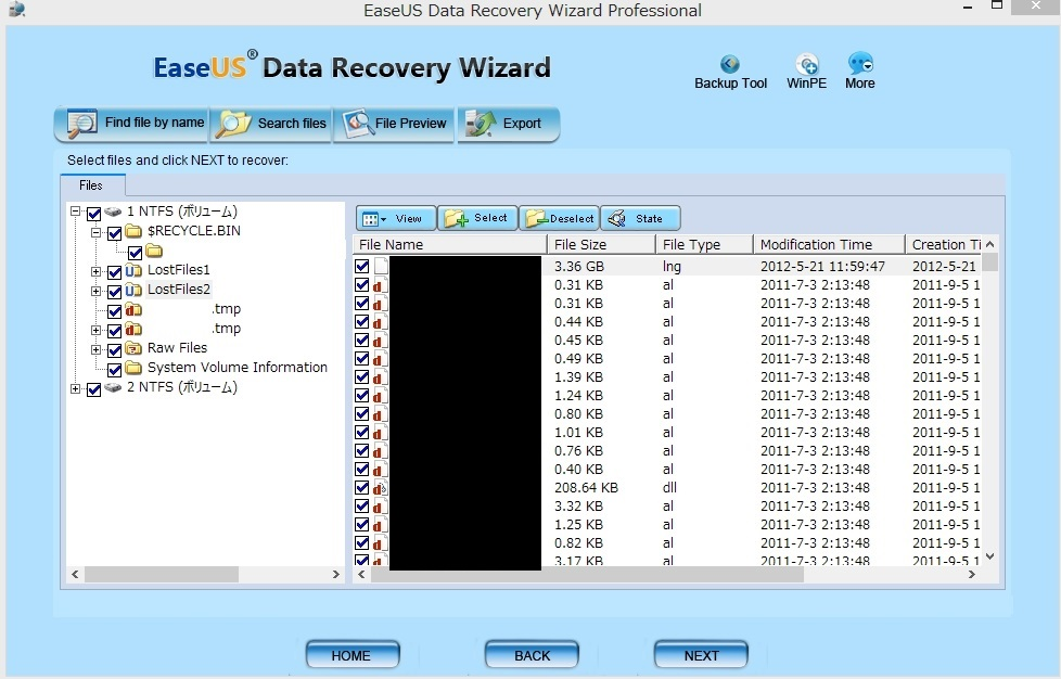 データ復元 EaseUS Data Recovery Wizard Professional11