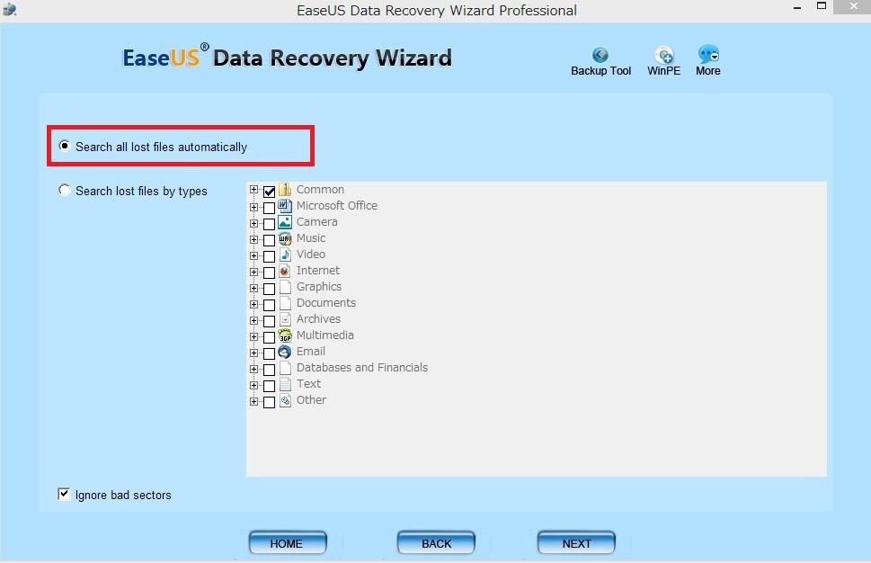 データ復元 EaseUS Data Recovery Wizard Professional7