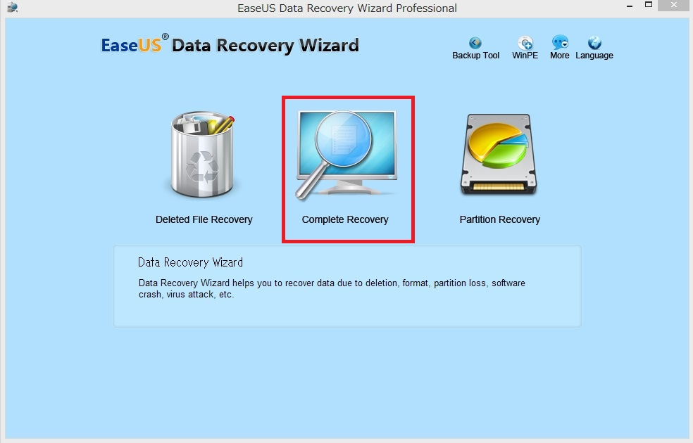 データ復元 EaseUS Data Recovery Wizard Professional6
