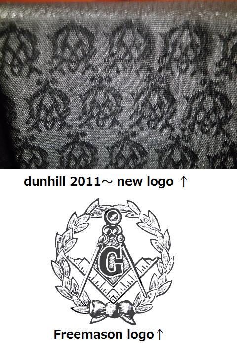 ダンヒル(dunhill)の新ロゴがフリーメイソンになってる件