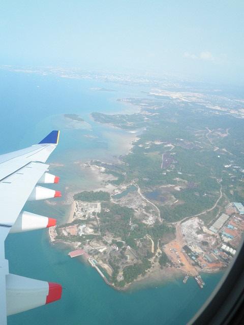 チャンギ国際空港到着