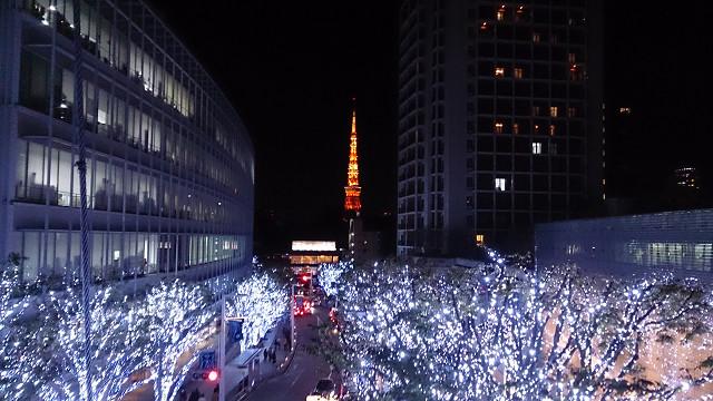六本木ヒルズけやき通り東京タワー
